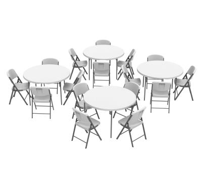 48 Inch Round Fold In Half Tables, Round Tables For Parties