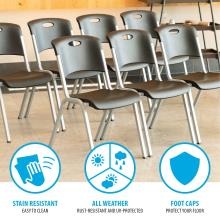 Lifetime Stacking Chair - 14 Pk (Commercial) photo