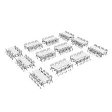 Lifetime (12) 8-Foot Stacking Tables and (96) Chairs Combo (Commercial) photo