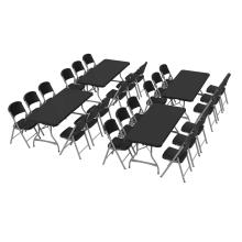 Lifetime (4) 6-Foot Stacking Tables and (24) Chairs Combo (Commercial) photo