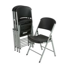 Lifetime Classic Folding Chair - Black with Silver Frame
