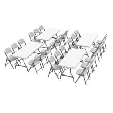 Lifetime (4) 6-Foot Stacking Tables and (24) Chairs Combo (Commercial)
