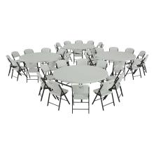 Lifetime (4) 72-Inch Round Tables and (40) Chairs Combo (Commercial)