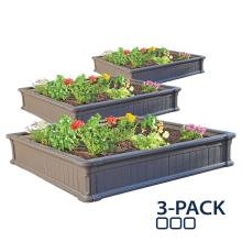 Raised Garden Bed 3-Pack (3 Beds, No Enclosure)